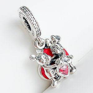 📿Mickey Mouse & Minnie Mouse Love Dangle Charm